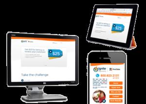 Desktop website, tablet and mobile website for smart phones